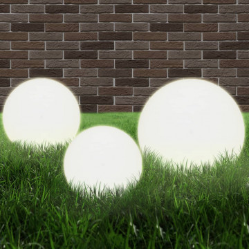 3 db-os LED gömblámpa-szett 20 / 30 / 40 cm PMMA - utánvéttel vagy ingyenes szállítással