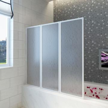 ZuhanyFal Kádparaván 141 x 132 cm 3 Panel Összehajtható - utánvéttel vagy ingyenes szállítással