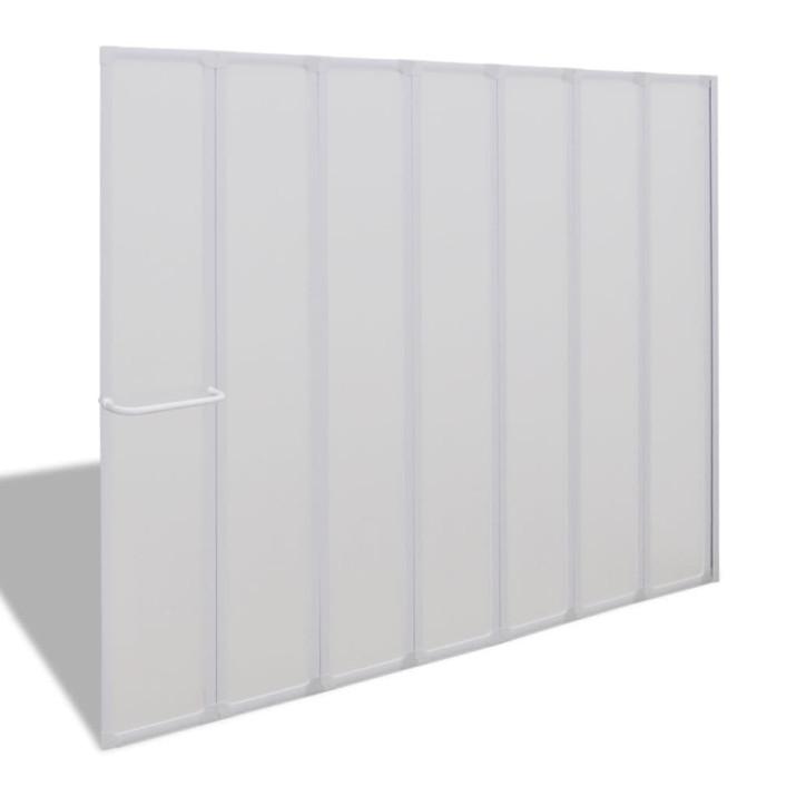 Zuhanyzó kádparaván 140 x 168 cm 7 panelek behajtható törülközőtartó - utánvéttel vagy ingyenes szállítással
