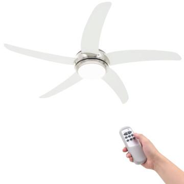 Díszes mennyezeti ventilátor lámpával 128 cm fehér...