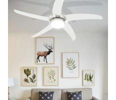 Díszes mennyezeti ventilátor lámpával 128 cm fehér - utánvéttel vagy ingyenes szállítással