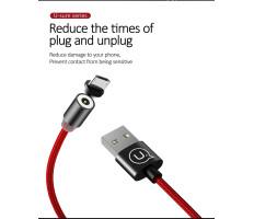 USAMS SJ294USB01 Mágneses Micro USB töltőkábel, fekete, 1299152