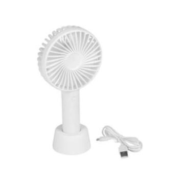 Kézi tölthető asztali ventilátor. Három sebesség fokozattal - fehér. SS-2. Micro-USB-csatlakozóval