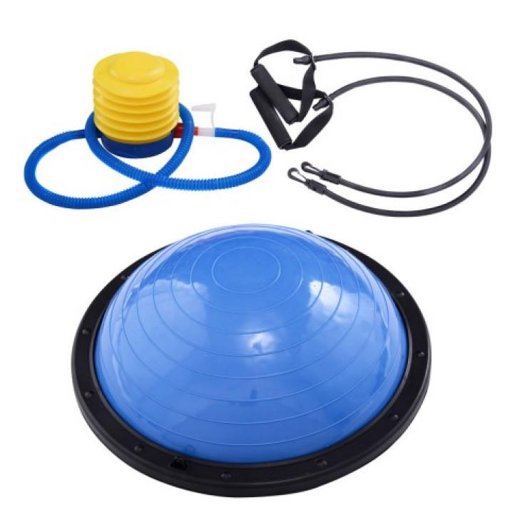 Mozgáskoordinációt fejlesztő egyensúly labda, fitnesz labda, kék színű