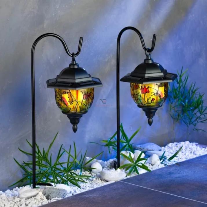 2 Db Tiffany Kerti napelemes szolár lámpa, 95 cm